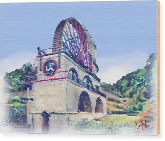 Laxey Wheel 6 Wood Print