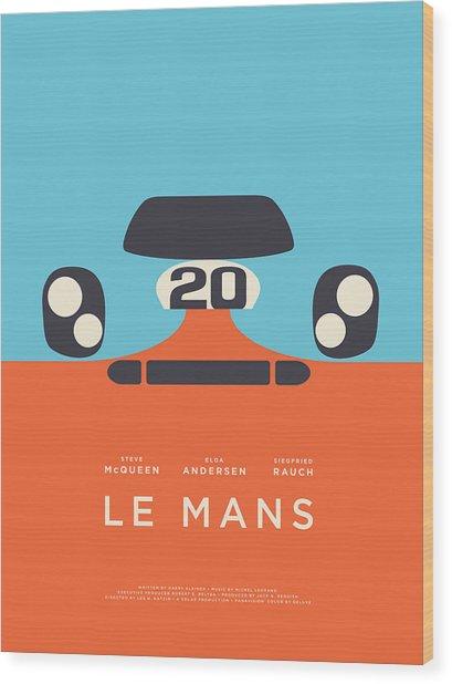 Le Mans Movie - B Wood Print