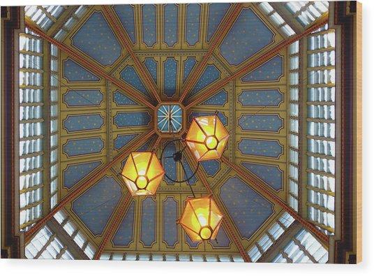Leadenhall Market Ceiling Wood Print