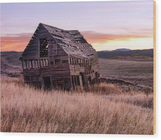 Leaning, Weathered And Worn Wood Print