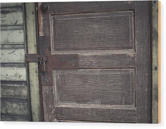 Leather Door Wood Print