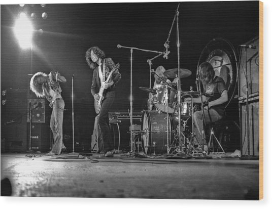 Led Zeppelin At The Forum Wood Print