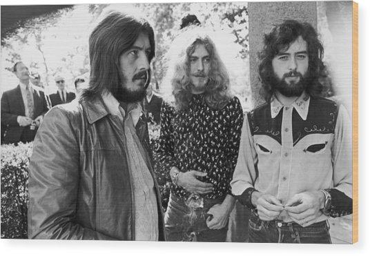Led Zeppelin Wood Print by Popperfoto