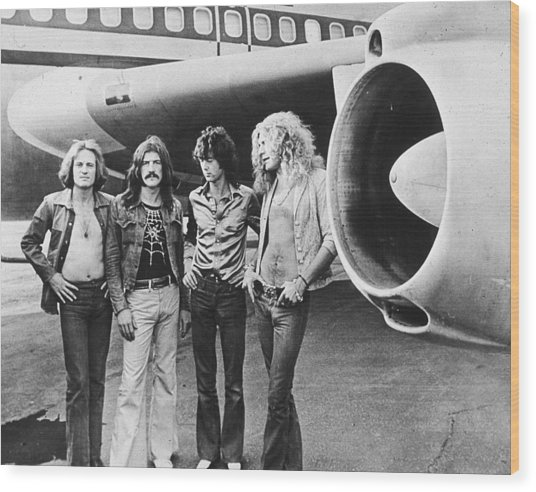 Led Zeppelin With Jet Wood Print
