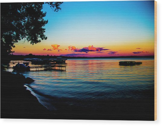 Leech Lake Wood Print