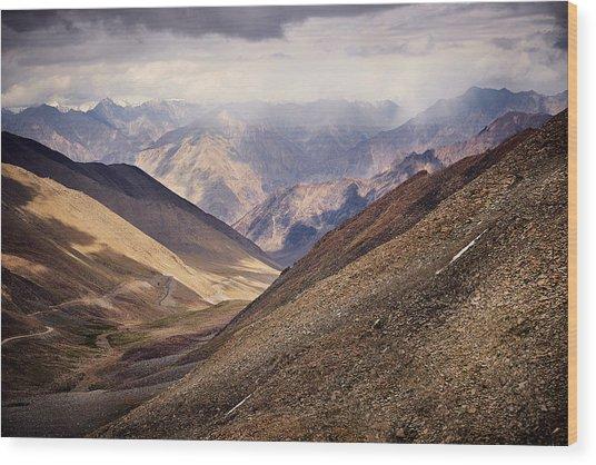 Leh-manali Mountains Wood Print