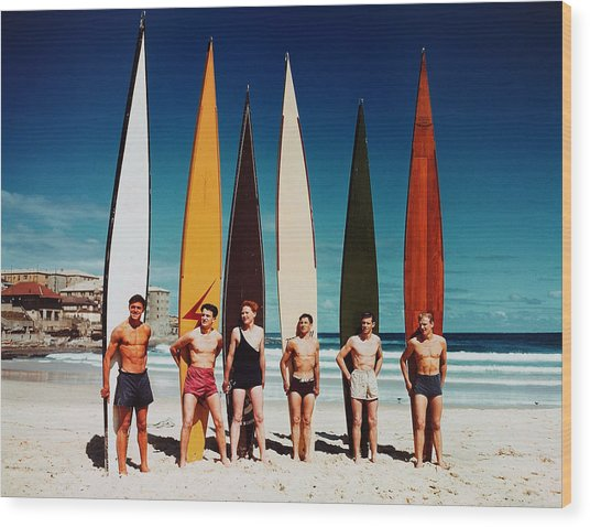 Leisure. Sport. Pic 1948. Bondi Beach Wood Print by Popperfoto