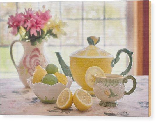 Lemon Tea  Wood Print