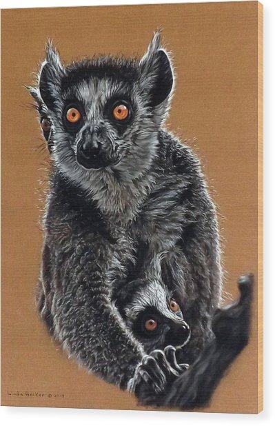Lemurs Wood Print