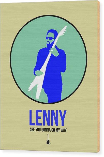 Lenny Kravitz II Wood Print