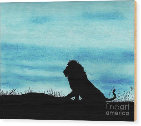 Leo At Sunset Wood Print