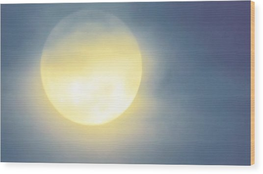Wood Print featuring the photograph Leo Blue Super Moon by Judy Kennedy