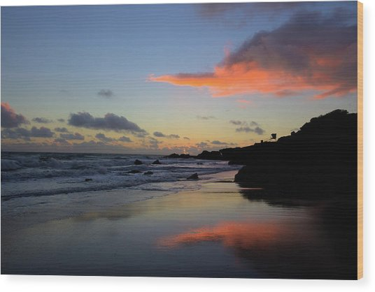 Leo Carrillo Sunset II Wood Print