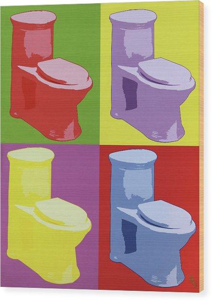 Les Toilettes  Wood Print