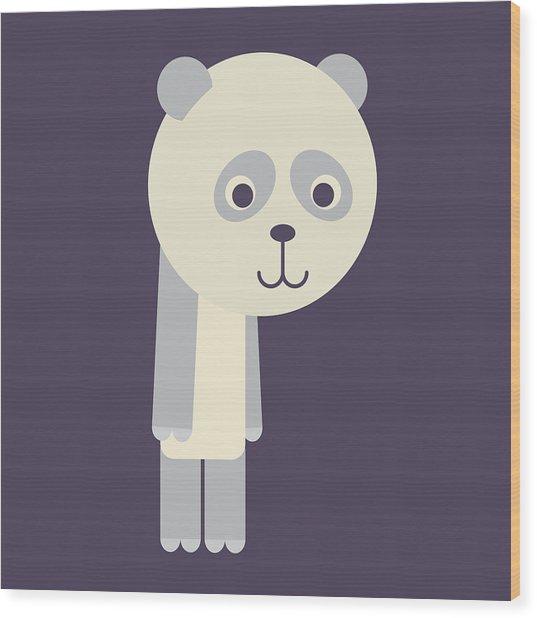 Letter P - Animal Alphabet - Panda Monogram Wood Print