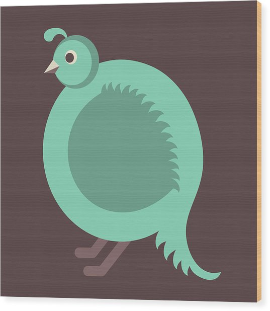 Letter Q - Animal Alphabet - Quail Monogram Wood Print