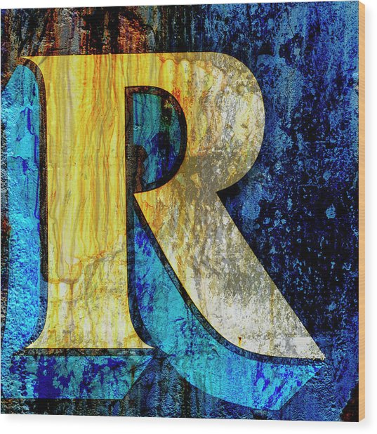 Letter R Wood Print