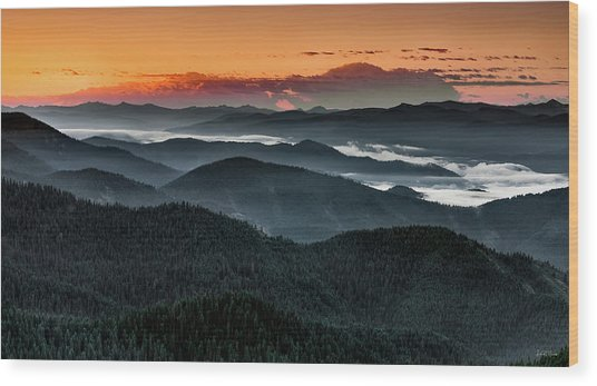 Lewis And Clark Route Wood Print by Leland D Howard
