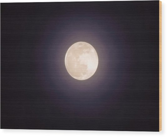 Wood Print featuring the photograph Libra Full Moon by Judy Kennedy