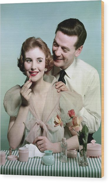 Lifestyle. Couples. Pic 1959. A Man Wood Print by Popperfoto