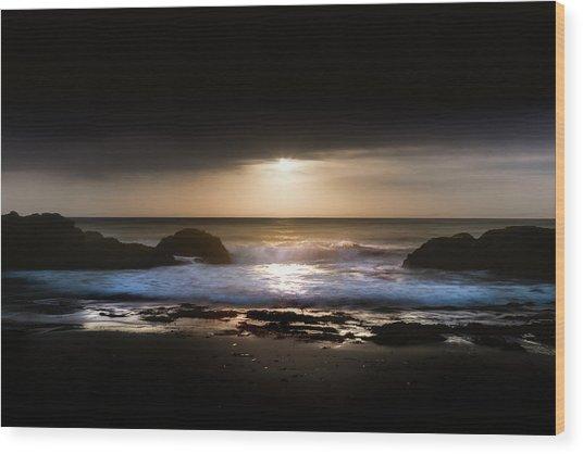 Light Tide Wood Print