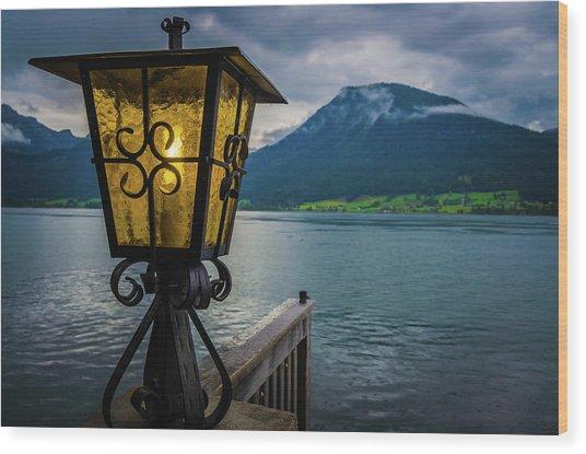 Lighthouse On The Sank Wolfgang Lake Wood Print