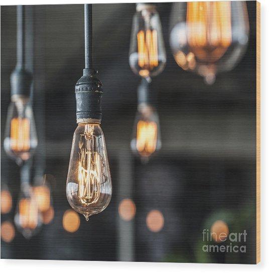 Lighting Decor Wood Print