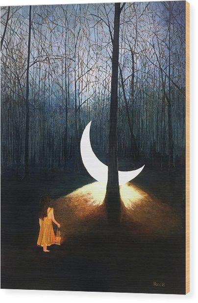 L'il Luna Wood Print