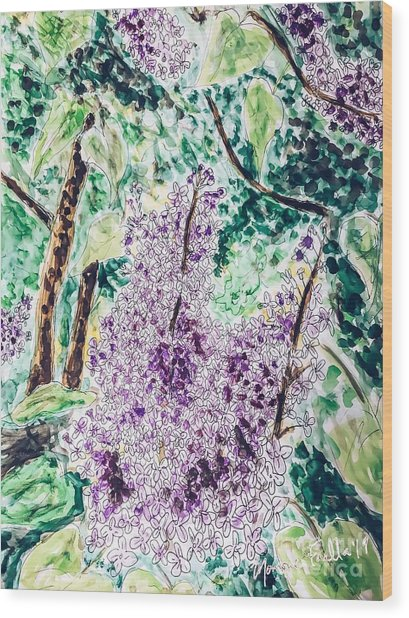 Lilac Dreams Wood Print