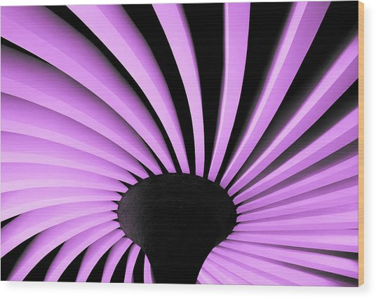 Lilac Fan Ceiling Wood Print