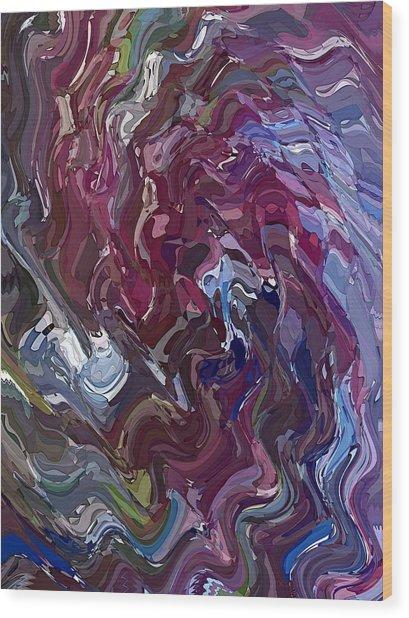 Lilac Oil Wood Print