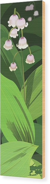 Lily Of The Valley Wood Print by Marian Federspiel
