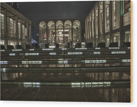 Lincoln Center For The Performing Arts Wood Print