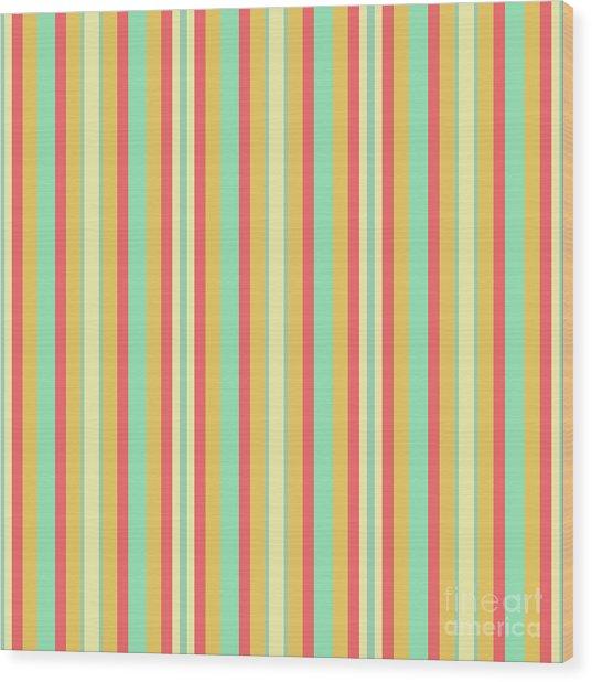 Lines Or Stripes Vintage Or Retro Color Background - Dde589 Wood Print