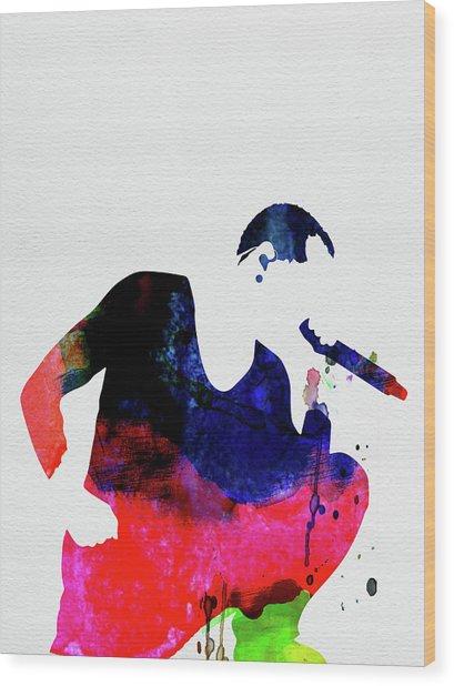 Linkin Park Watercolor Wood Print