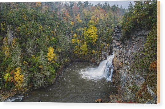 Linville Falls - Linville Gorge Wood Print