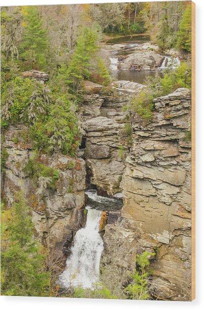 Linville Falls - Vertical Wood Print