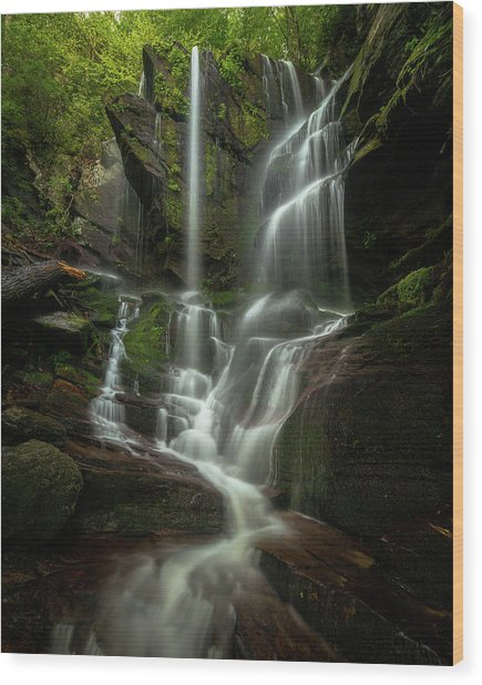 Linville Gorge - Waterfall Wood Print