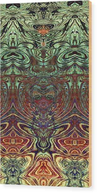 Liquid Cloth 2 Wood Print