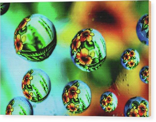Liquid Lenses Wood Print