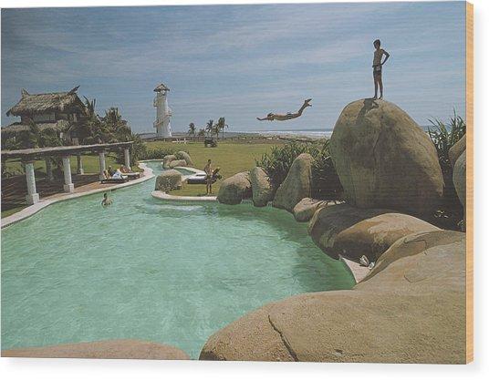 Little Beach House, Acapulco Wood Print