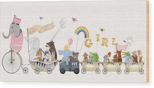 Little Girls Parade Wood Print by Bri Buckley