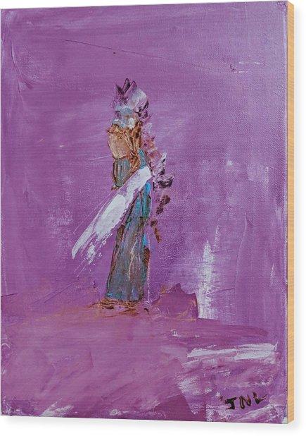 Little Indian Angel Wood Print