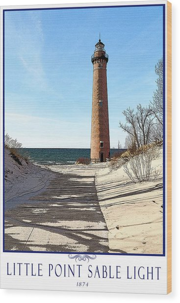 Little Point Sable Light Poster Wood Print by Fran Riley