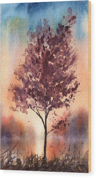 Little Zen Tree 2090 Wood Print