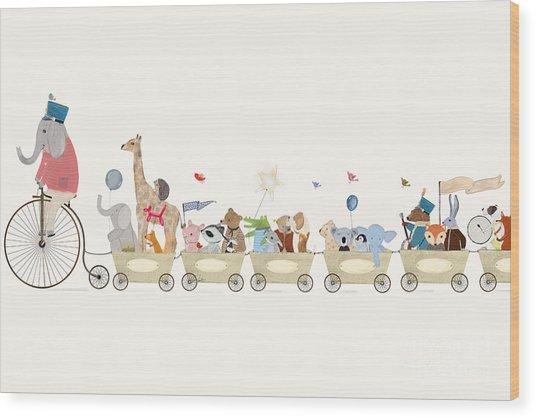 Littlest Playtime Wood Print by Bri Buckley