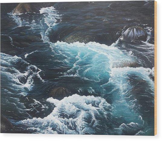 Living Waters Wood Print