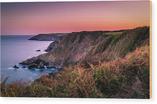 Lizard Point Sunset - Cornwall Wood Print