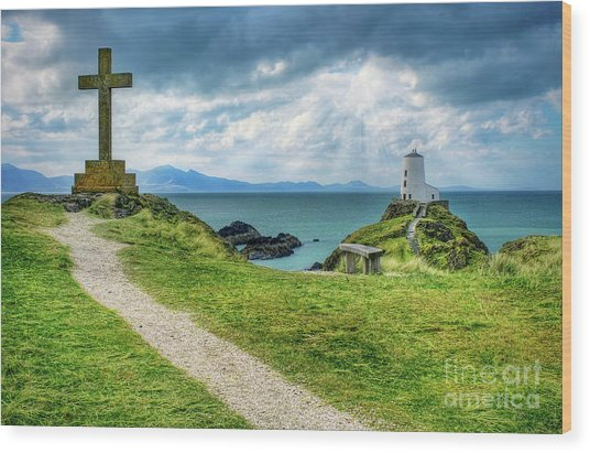 Llanddwyn Island Wood Print