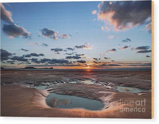 Llangennith Beach Wood Print